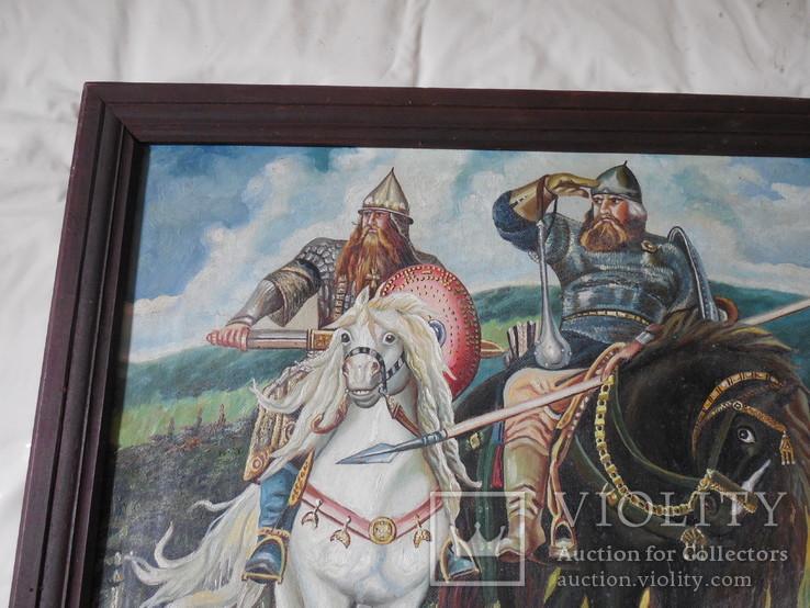 Картина три богатыря (копия), фото №3