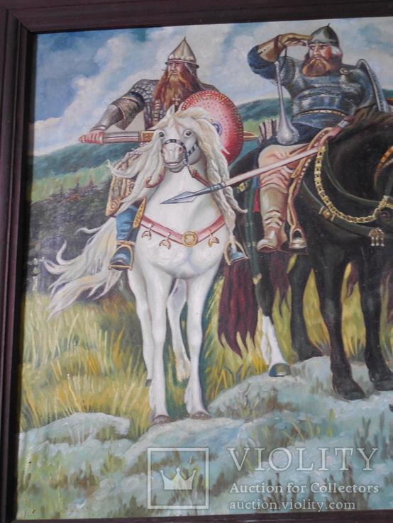 Картина три богатыря (копия), фото №7