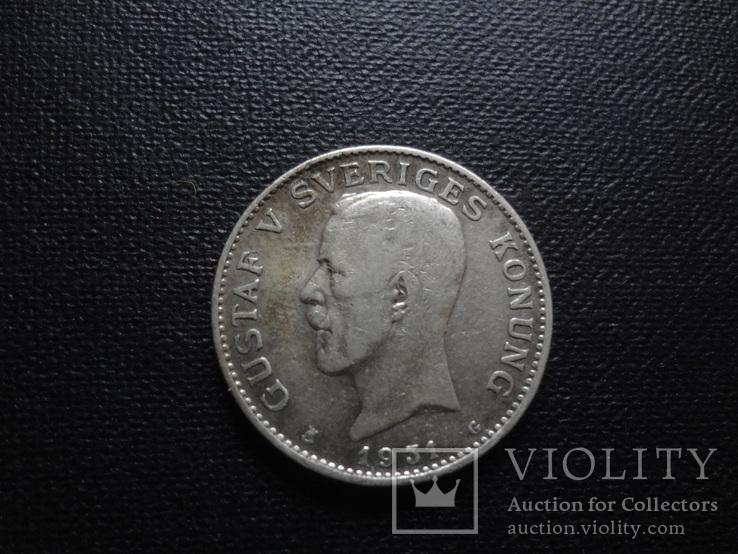 1 крона 1931 Швеция серебро    (О.4.9)~, фото №2