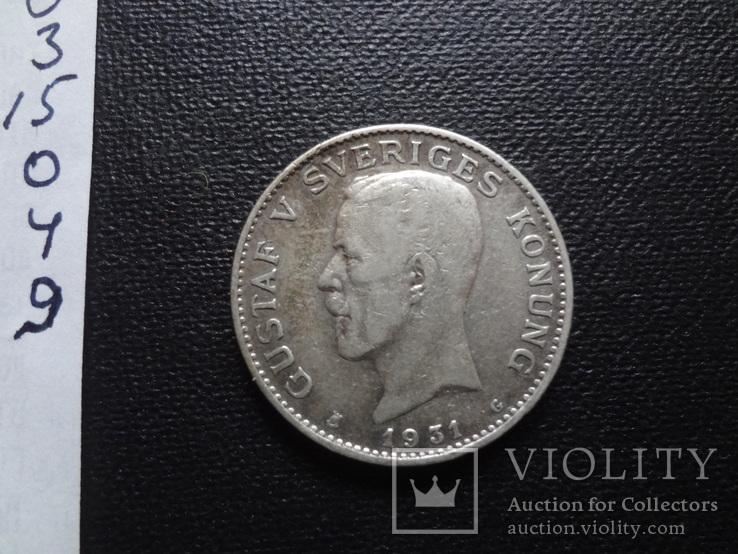 1 крона 1931 Швеция серебро    (О.4.9)~, фото №4