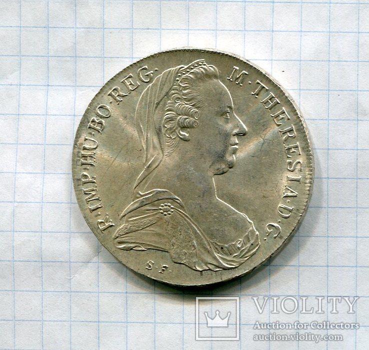 Австро-Венгрия Талер 1780х aUNC Мария Терезия, фото №2