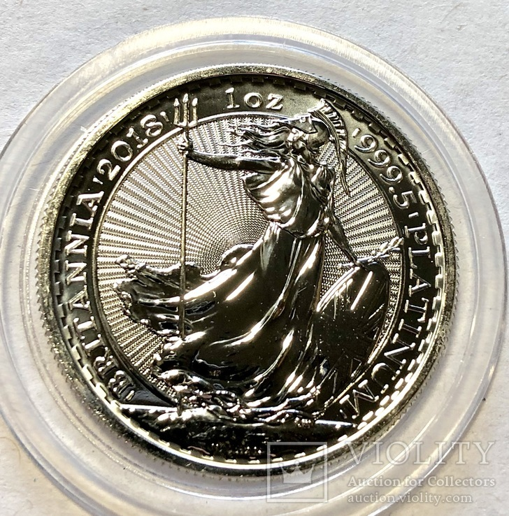 100 фунтов 2018 год Англия платина 31,1 грамм 999,5'