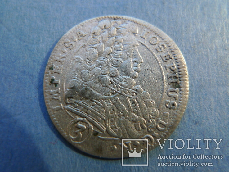 3 крейцера. 1706 год. Богемия.