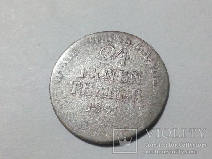 1/24 талера 1831 Анхальт Бернбург, фото №3