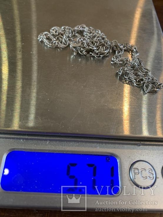 Цепочка серебряная 925 проба 5,71 грам не ношеная, фото №5