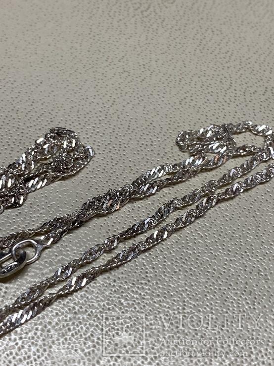 Цепочка серебряная 925 проба 2,06 грам  не ношеная, фото №3