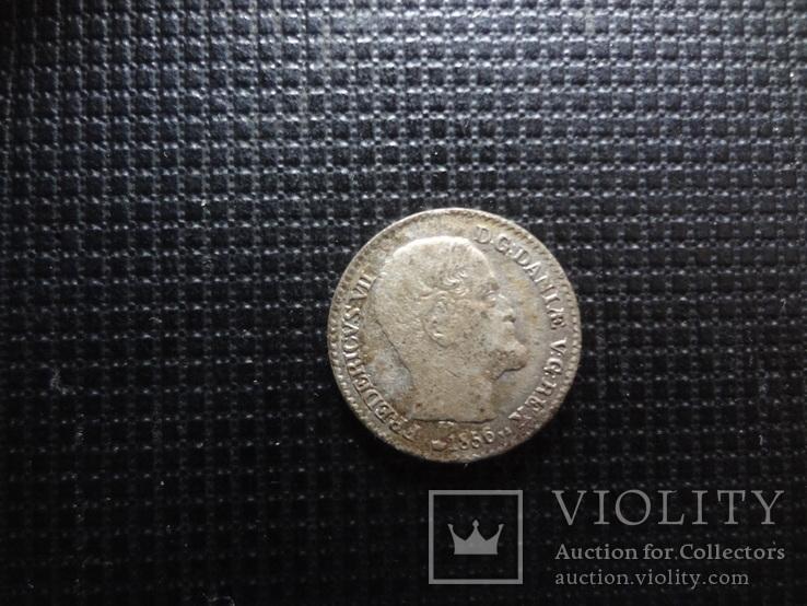 4 скиллинга 1856 Дания серебро     (С.2.7)~, фото №3