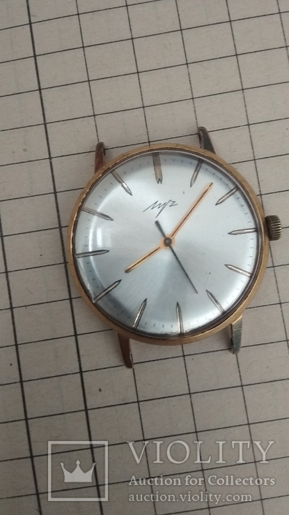 Мужские наручные часы Луч, позолота  AU 12.5