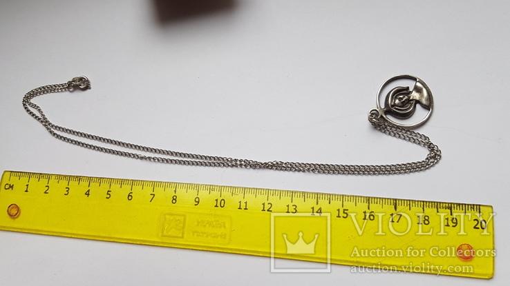 Кулон + цепочка. Советы. Серебро 875 проба. 52 см. Вес 8.5 г, фото №4
