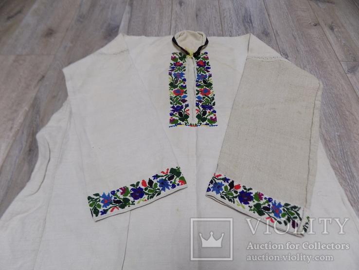 Традиційна чоловіча полотняна сорочка 1920х рр. Борщівський р-н, фото №2