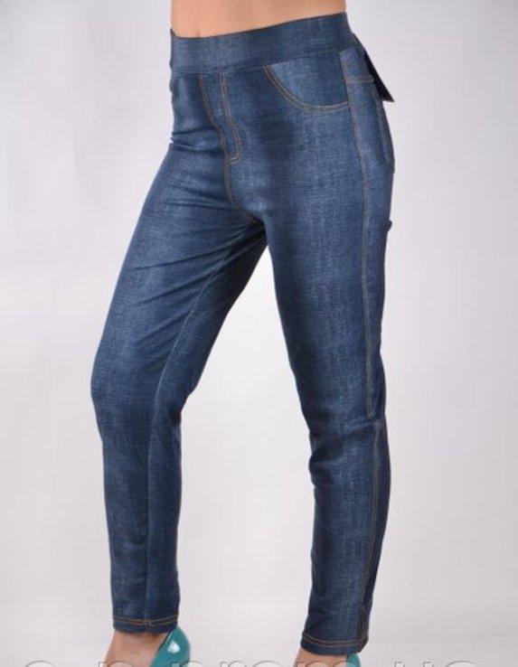 Брюки трикотажные с карманами под джинс - Хит сезона рр 5XL-(48-52), фото №2