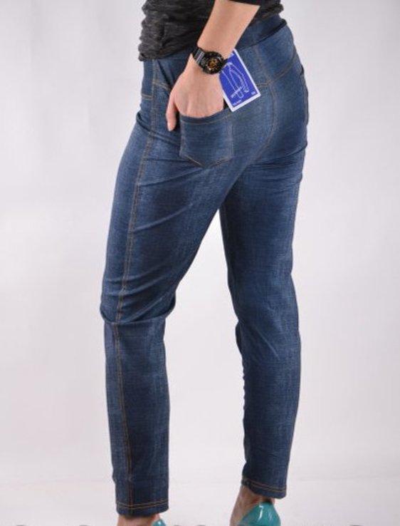 Брюки трикотажные с карманами под джинс - Хит сезона рр 5XL-(48-52), фото №3