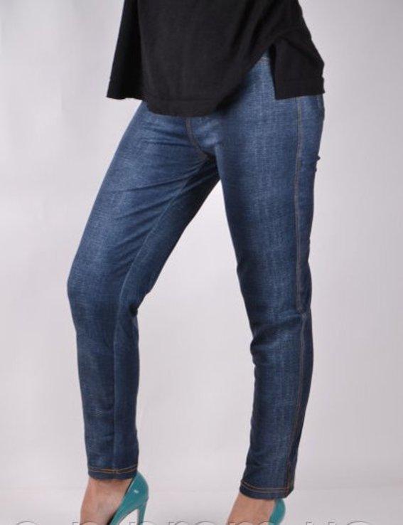 Брюки трикотажные с карманами под джинс - Хит сезона рр 5XL-(48-52), фото №4