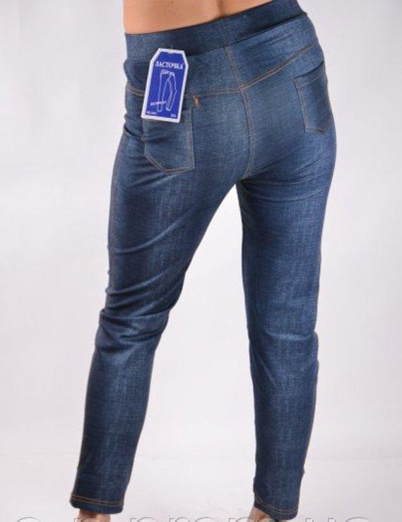 Брюки трикотажные с карманами под джинс - Хит сезона рр 5XL-(48-52), фото №5