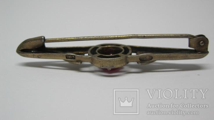 Винтажная серебряная брошь, фото №3