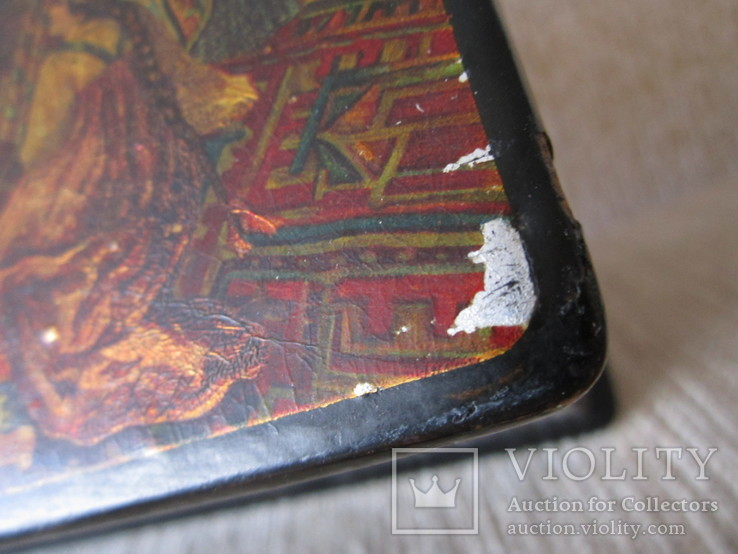 Шкатулка дореволюционная из под чая Салки в палатах, фото №9