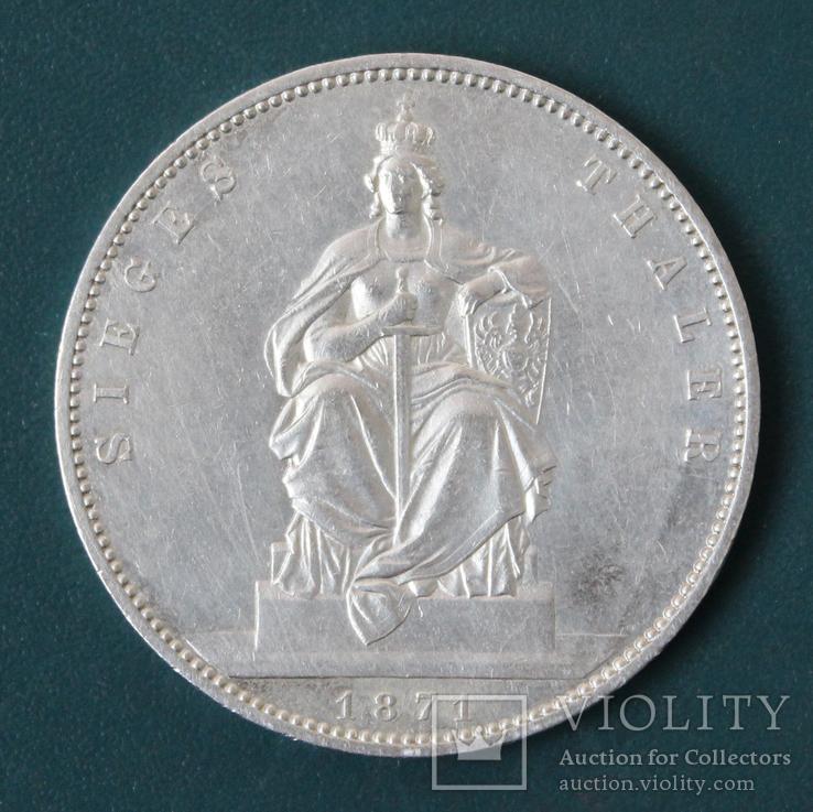 1 талер 1871, фото №2