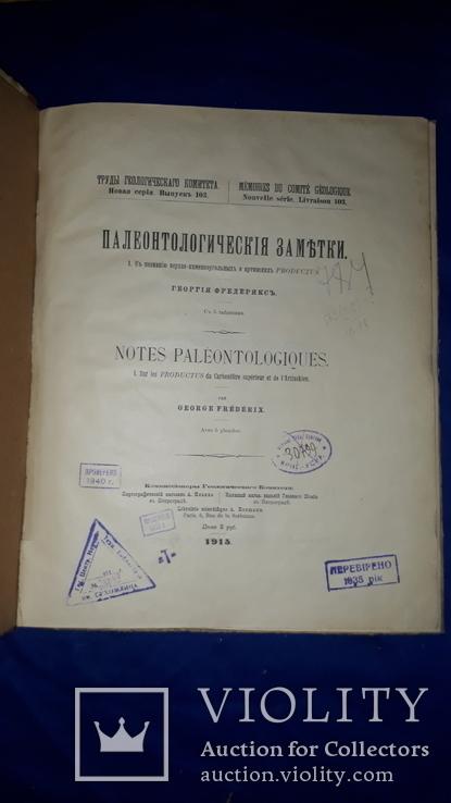 1915 Палеонтологические заметки 31.5х25 см., фото №8