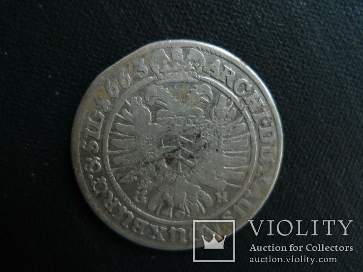 15 крейцеров. 1663 год. Леопольд. Австрия., фото №4