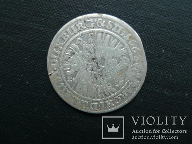 15 крейцеров. 1663 год. Леопольд. Австрия., фото №5