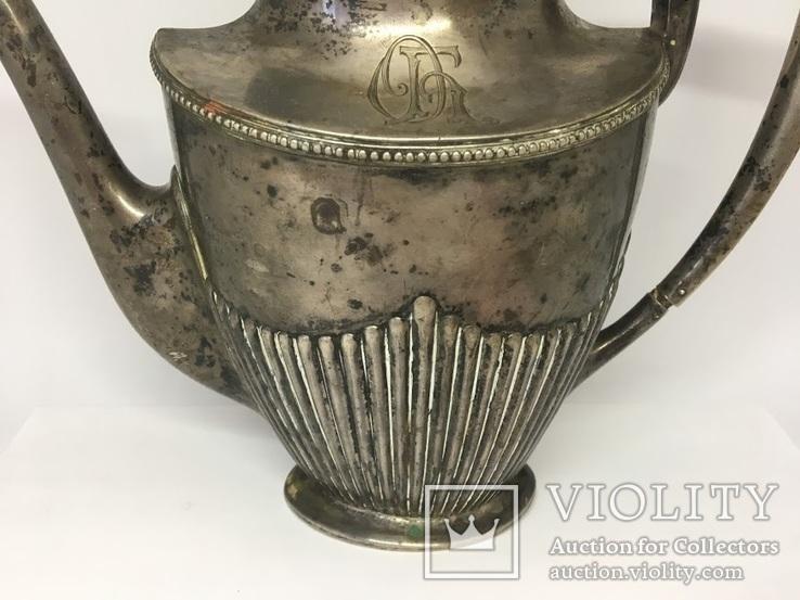 Кофейник (серебро 800 пробы), фото №4