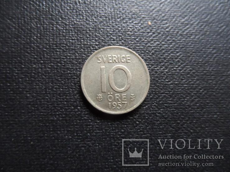 10  эре 1957 Швеция    (С.3.15)~, фото №2