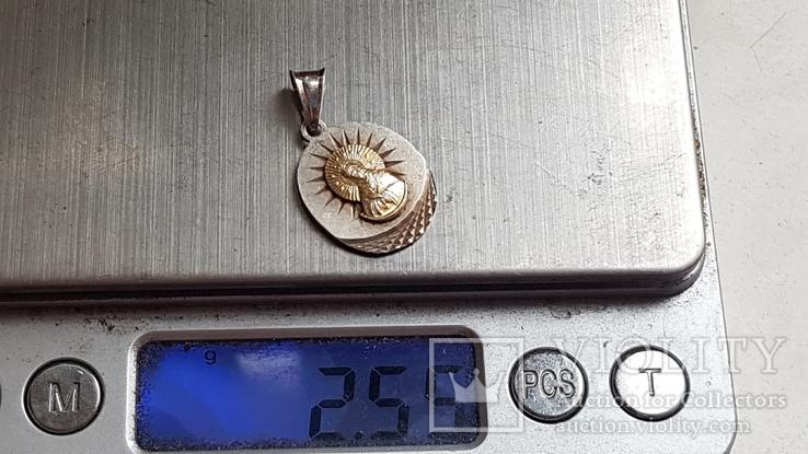 Богородица. Серебро 925 проба., фото №2