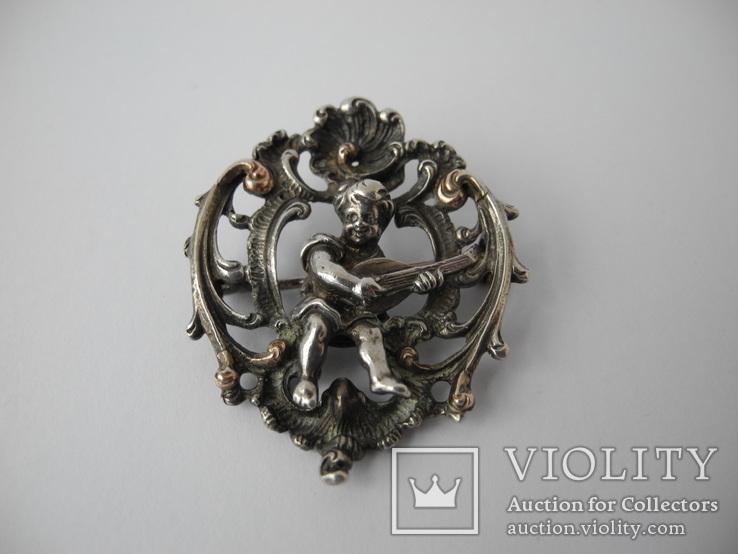 Старинная Винтажная Брош с Пути ( серебро ), фото №3