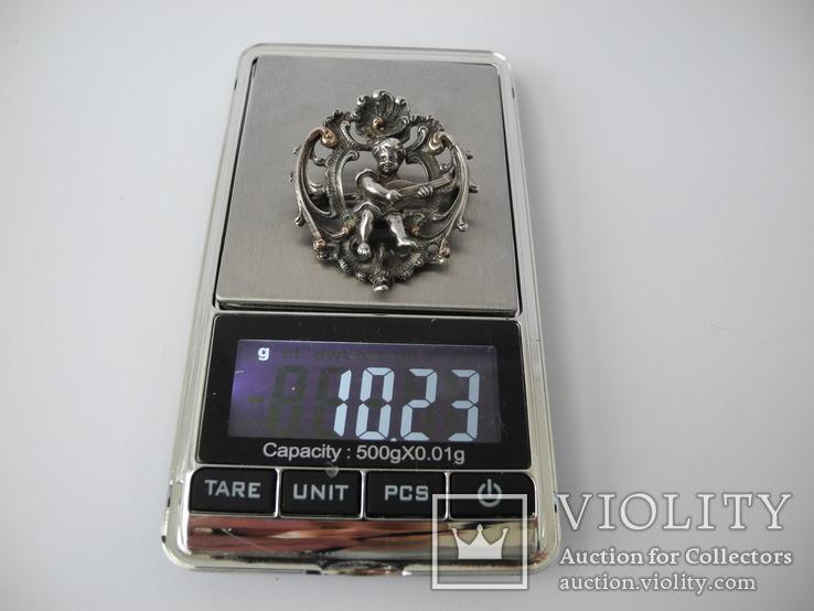 Старинная Винтажная Брош с Пути ( серебро ), фото №4