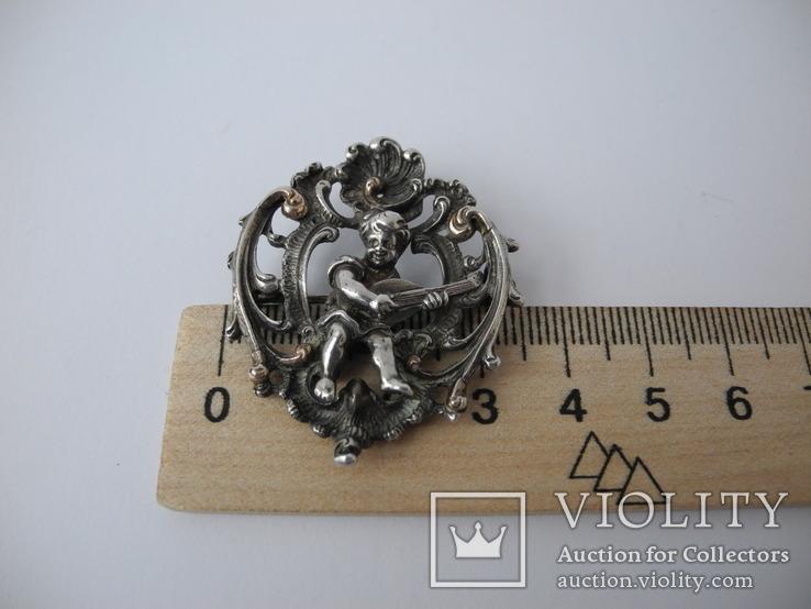 Старинная Винтажная Брош с Пути ( серебро ), фото №12