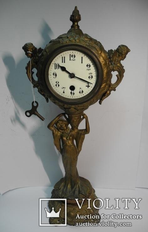 Большие настольные часы кон 19 нач 20 века ( на ходу , Европа )