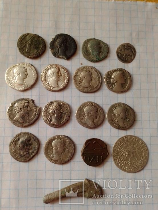 Лот монет денарии и бонус