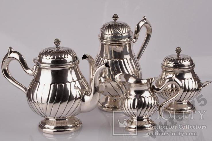 Набор чайный - Чайник-2 шт  Молочник Сахарница Вес-1226грамм, фото №2