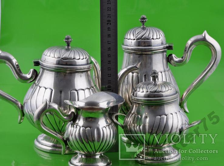 Набор чайный - Чайник-2 шт  Молочник Сахарница Вес-1226грамм, фото №3