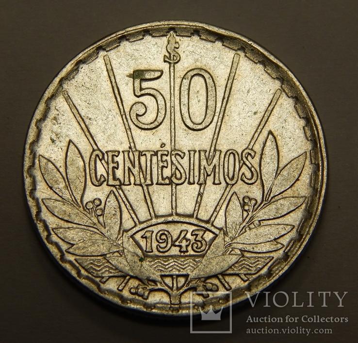 50 центесимос, 1943 г Уругвай