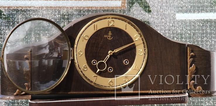 Часы каминные GOLDA с четверным боем, Германия. На ходу.