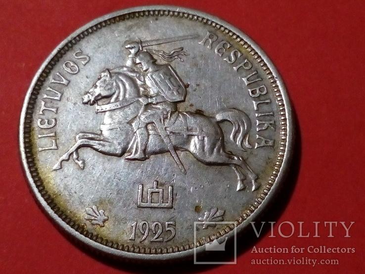 5 лит 1925 Латвия серебро