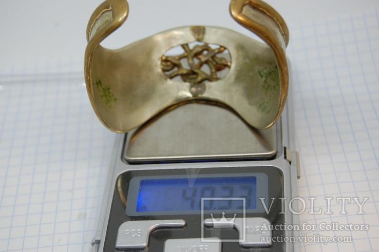 Объемный браслет. Металл не магнитится, фото №11