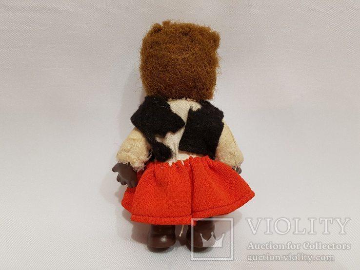 Кукла медведица ГДР , Германия 12 см, фото №7