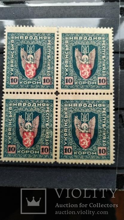 1919 г Западной области Украинской Народной Республики (ЗО УНР) квартблок, фото №6