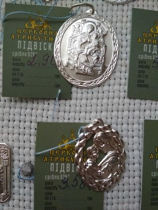 Лот срібних кулонів, фото №4
