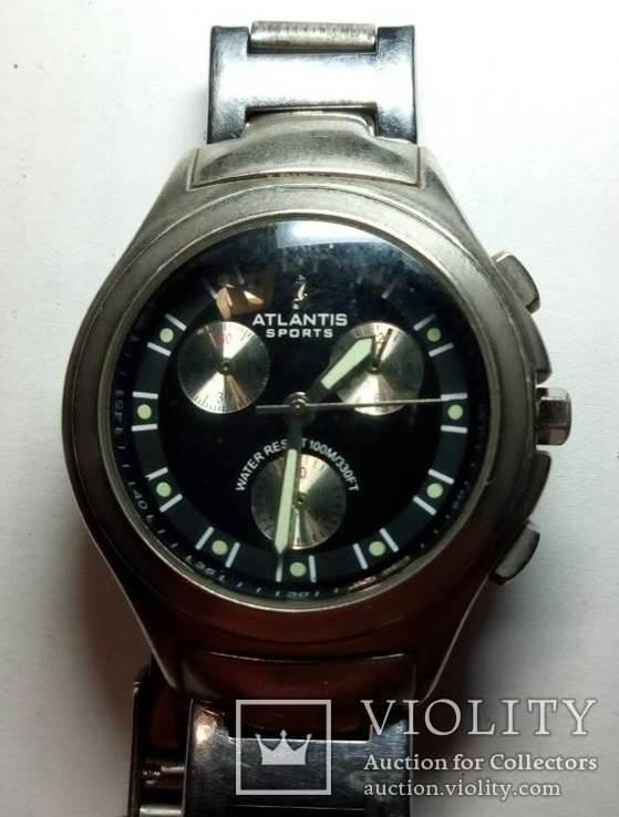 Часы ATLANTIS-SPORTS water resistant 100M/330FT, фото №2