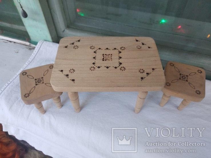 Мебель для кукол натуральное дерево, фото №2