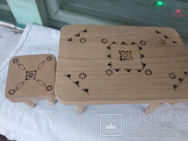 Мебель для кукол натуральное дерево, фото №3