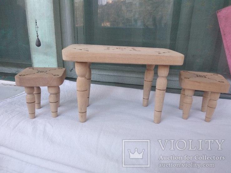 Мебель для кукол натуральное дерево, фото №4