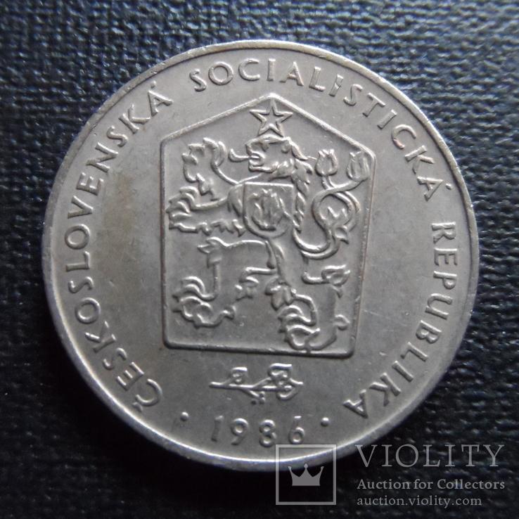 2 кроны 1986  Чехословакия    (П.2.14)~, фото №3