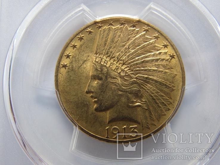 10 долларов 1913 г. MS62