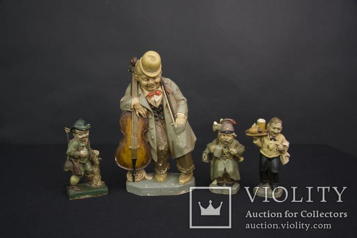 Старинные статуэтки из Папье Маше Friedel Sonneberger Figur