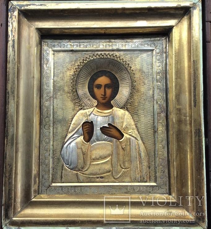 Икона Св. Христофор 84, позолота, металлорамный киот