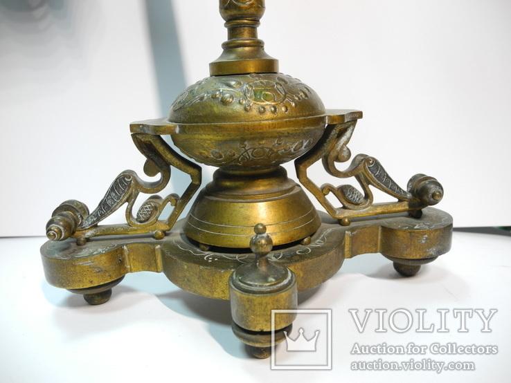 Старинные бронзовые подсвечники канделябры ( Модерн ), фото №6